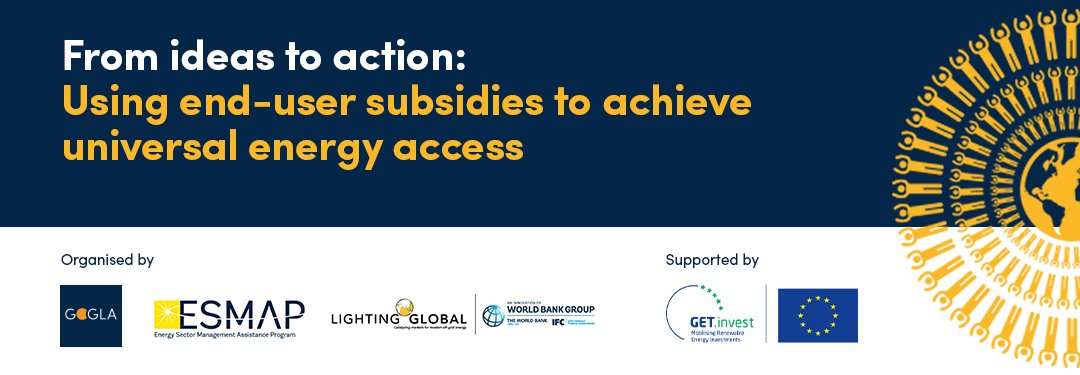 #Offgridsolar has narrowed the #energyaccess gap for millions – but without the smart use of public funding, many still risk being left behind. Join us on 20 Jan 2021 to explore the role of end-user subsidies in the 'tool-kit' of pro-poor solutions➡️