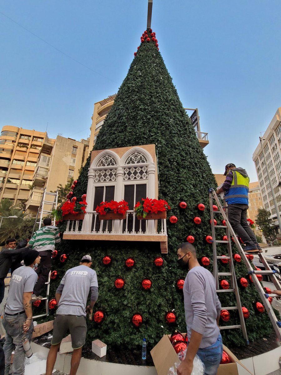 Beirut will get the chance to celebrate Christmas this year despite all what this beautiful city faced. So proud of #LebanonOfTomorrow initiative to give people hope back! @TareckKaram