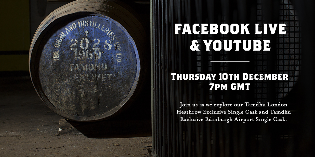 Join us live on Facebook or YouTube on Thursday 10th December at 7pm GMT for our next Tamdhu Live Tasting!  Explore our Tamdhu Exclusive LHR Single Cask and our Tamdhu Exclusive EDI Single Cask. 🥃  Both bottles available now: https://t.co/yiOhfVcIXg https://t.co/IUHe9FDZ4G