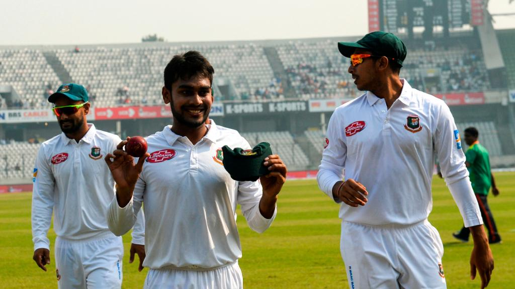 #OnThisDay in 2018, Bangladesh secured a Test win by an innings margin for the first time!  Mehidy Hasan Miraz registered the best bowling figures (12/117) for 🇧🇩 in a Test match as they defeated West Indies by an innings and 184 runs in Dhaka 🙌