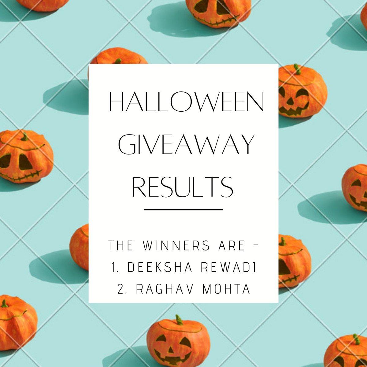 The most awaited Halloween Giveaway Results are here!!!🎃❤️ The winners of this giveaway are: 1. Deeksha Rewadi 2. Raghav Mohta  Please contact us. . . . . #hazel__hut #selflove #selfcare #halloween2020 #halloweengiveaway #handmadewithlove #organic #skincare #bathandbeauty #bath https://t.co/5NhYPadnvZ