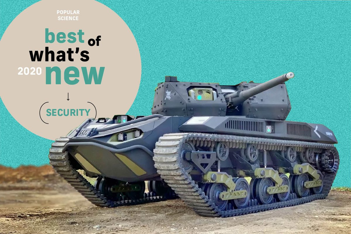 Protection against viruses, spam, thieves, wildfires, underwater bombs, and regret. Plus a tank-like autonomous ground vehicle.   These are the most significant security innovations of 2020:  #BestOfWhatsNew