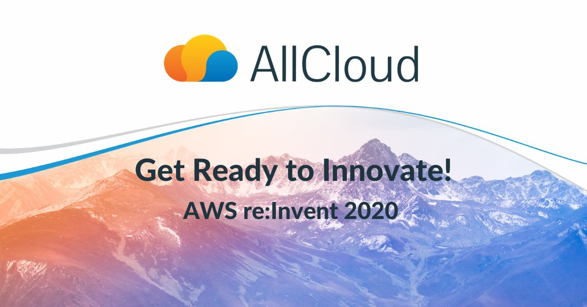Get the most out of #AWS re:Invent! As a proud Pavilion Partner sponsor, AllCloud is providing insight into the latest announcements and expert advice on how you can apply the very best of re:Invent quickly. Learn more here:     #awsreinvent #reinvent2020