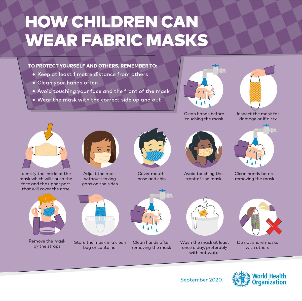 This is how children can #WearAMask properly 😷  Read more about children & masks in relation to #COVID19 👉