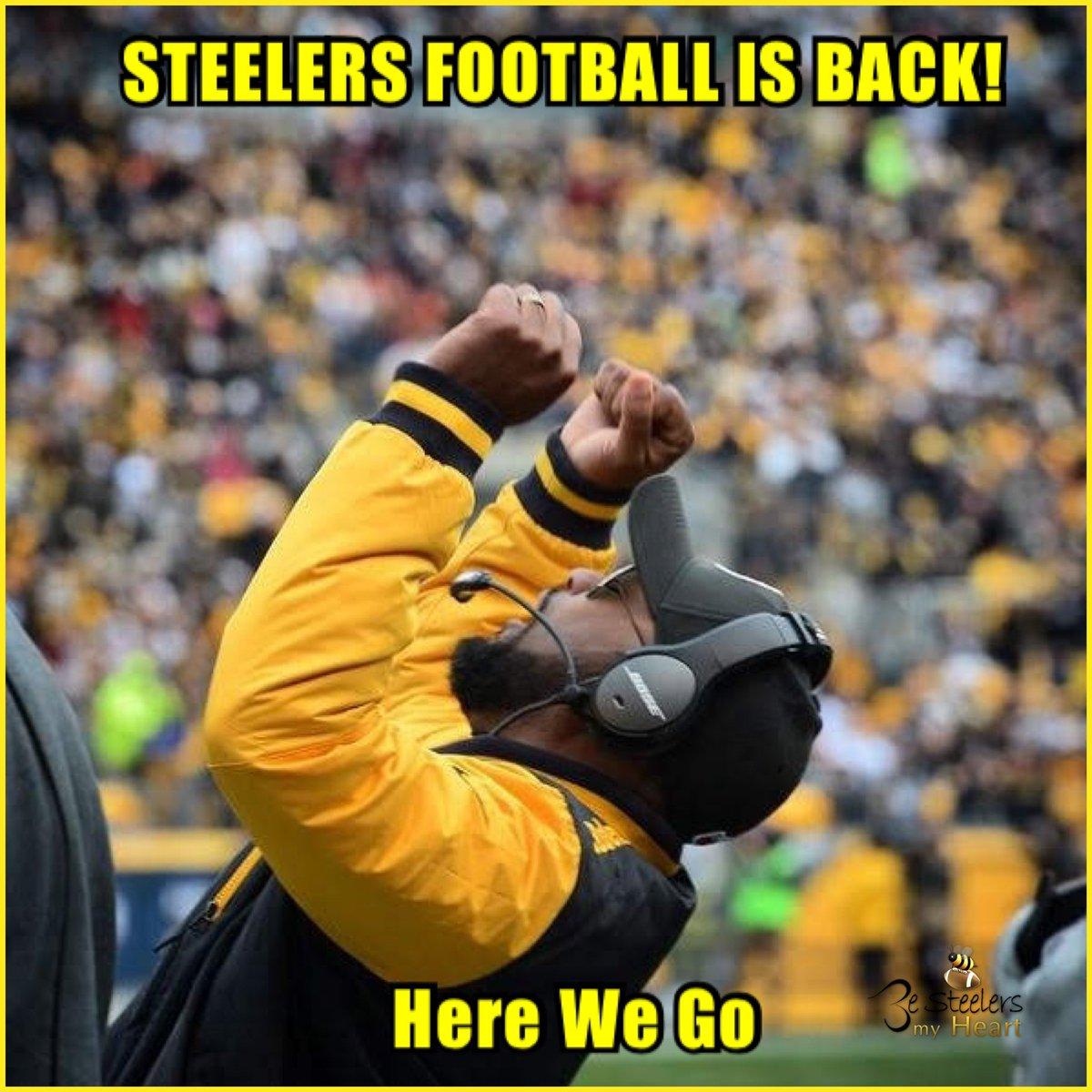 Yesssssss! 🙌🏾 It's really going down Steelersnation‼️ It's FINALLY GAMEDAY 👀 Here We Go Steelers 😆 #Steelers #HereWeGo Steelers