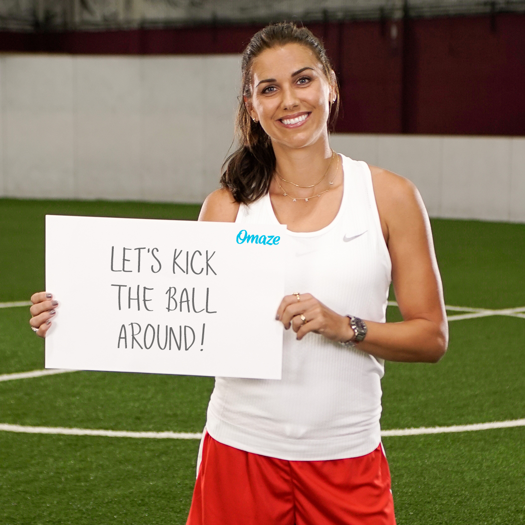 YOU could kick the ball around with @alexmorgan13, cheer on the #USWNT at a send-off match and be her VIP next summer! 🙌 Support Laureus Sport for Good USA and ENTER for your chance to win: bit.ly/You-Alex-VIP