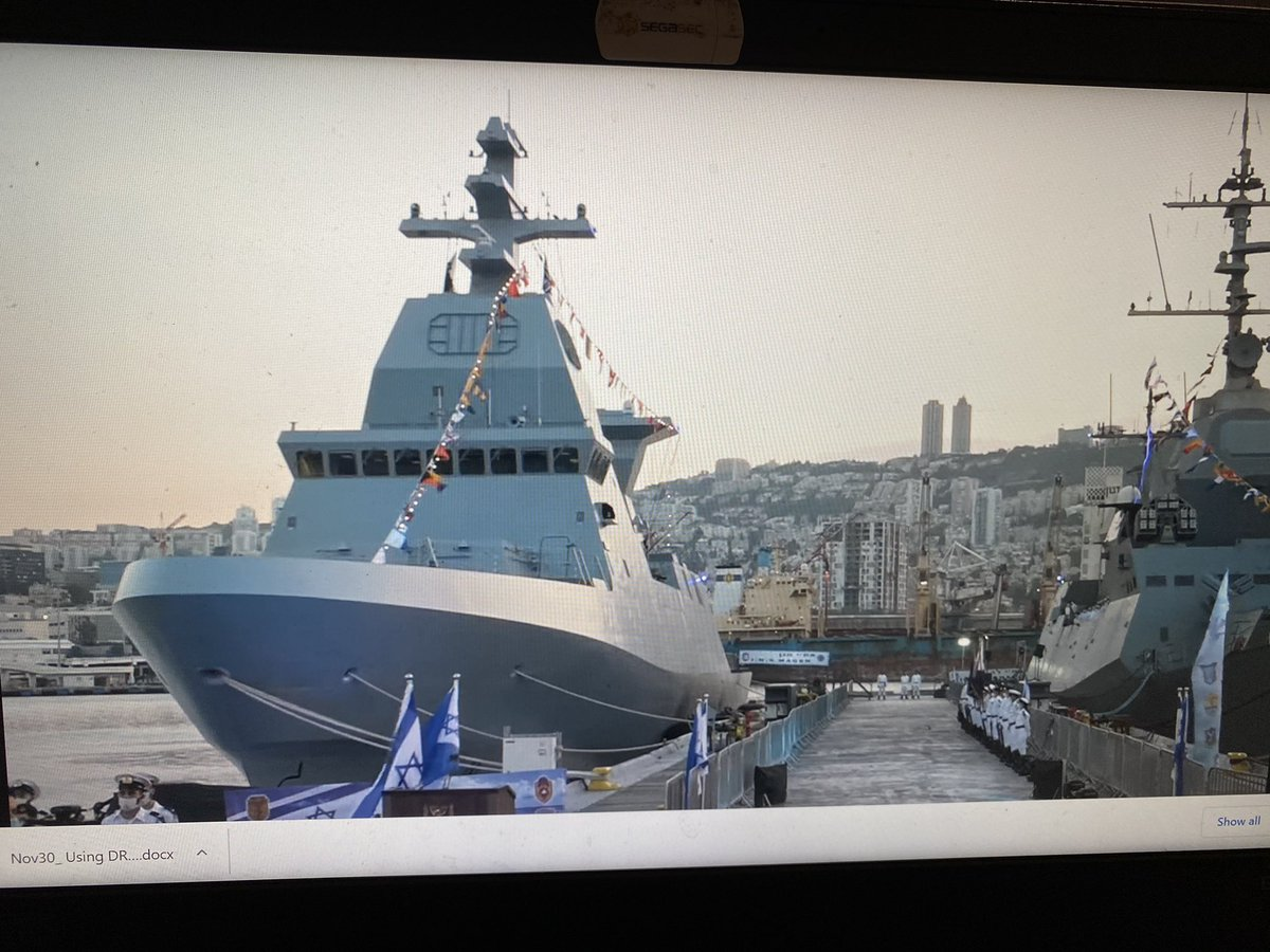 The #Israel Navy's latest Saar 6 INS Magen has arrived to Haifa port after sailing from Germany.