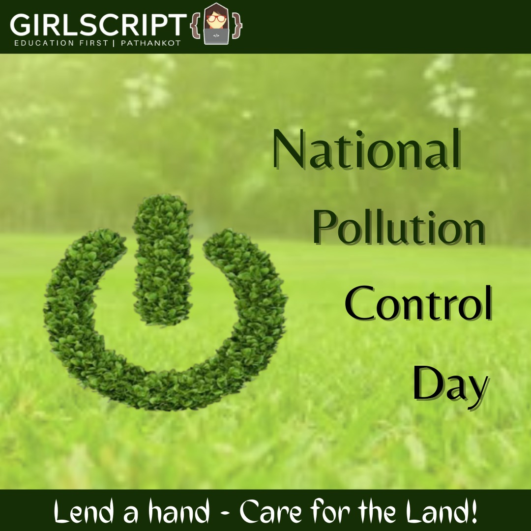 """🤝""""Lend a hand - care for the land""""🤝  #NationalPollutionControlDay #pollution #PollutionControl #pollutionfree #environment #protection #saveEarth #SaveLives #conservation #conservefuture #girlscript"""
