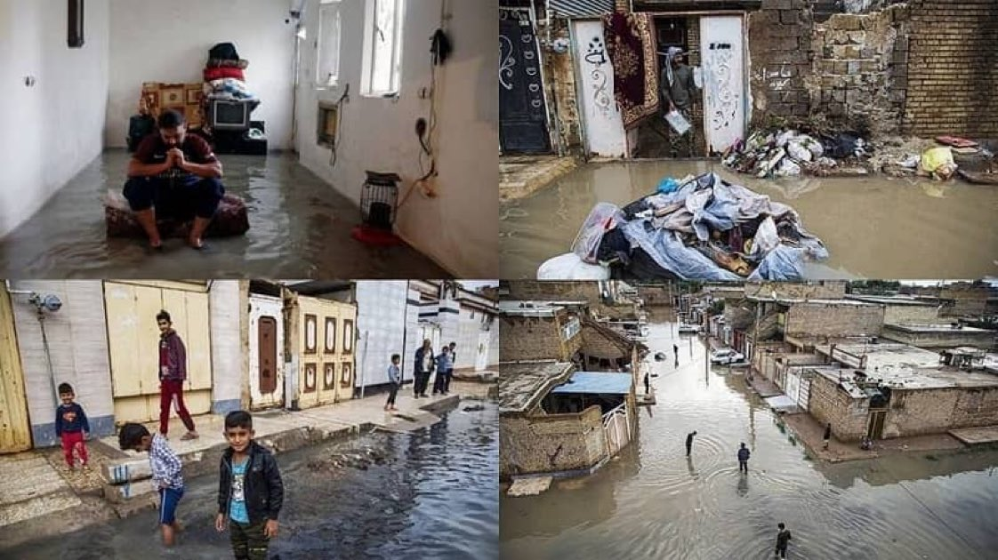 Look at the people of #Khuzestan  When there is no honest or legitimate government to think of the people, the outcome of rainy days can simply mean an end to probably everything you depend on in life #wednesdaythought