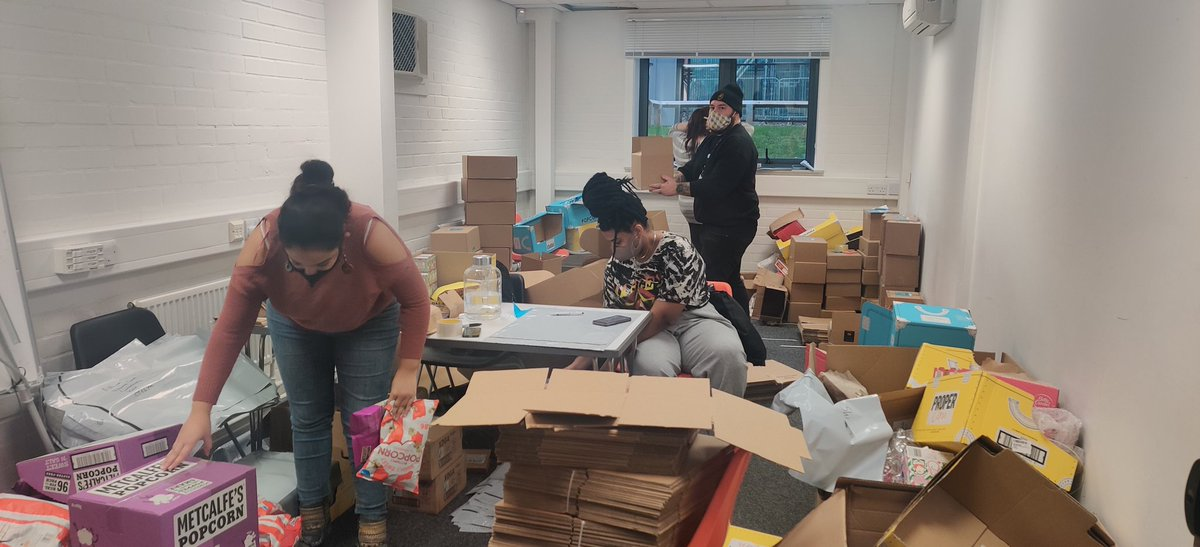 test Twitter Media - The SU elves (today is a non-uniform day) are busy packing up the hundreds of Lockdown Crates ready for collection and delivery later! Let us know if you're getting one! https://t.co/tqwkDevni9