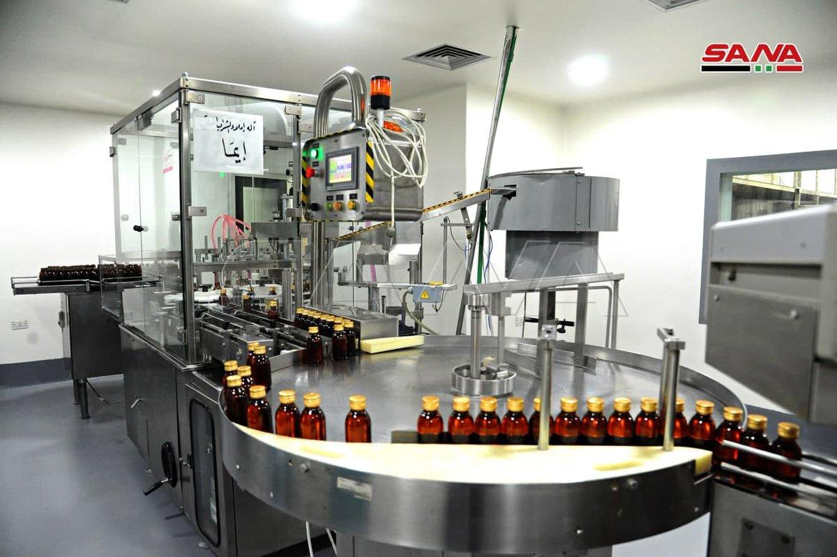صور سانا افتتاح خط دواء الشراب السائل في شركة تاميكو بطاقة 5ر1 مليون عبوة. تصوير ردينة الحلو