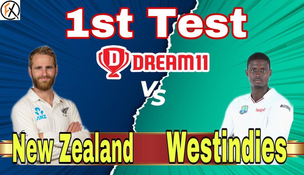 NZ vs WI 1st Test match Dream11 Team Prediction 👇👇👇   #NZvsWI #NZvWI #NZ #WI #Dream11 #Dream11Team #Prediction #Newzealand #Windies #TestCricket #Cricket #FirstClassCricket #CricketNews #CricketLive #Cric #FantasyXpress #TestMatch