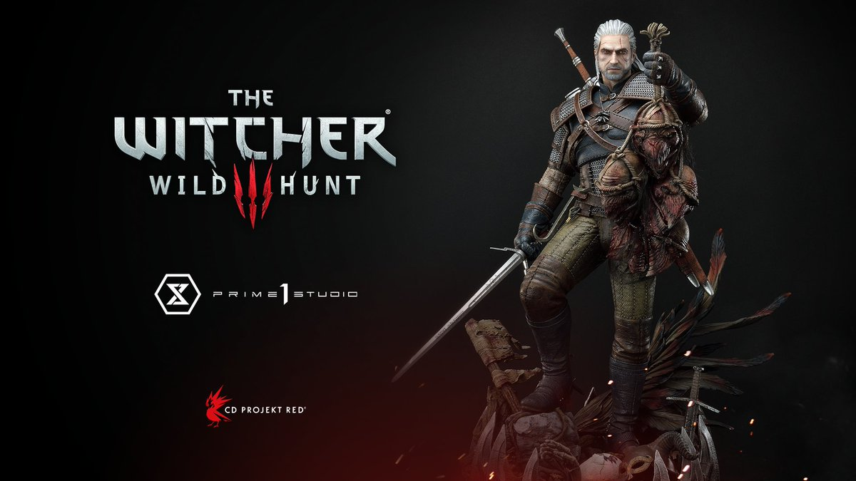 Geralt is the biggest monster slayer of them all. Literally!  Presenting a new addition to @Prime1Studio's lineup — ⅓ scale Geralt of Rivia! Pre-orders available now.  Standard:  Deluxe:
