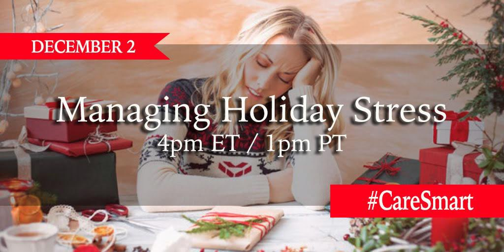 The holidays are upon us so in TODAY'S #CareSmart Twitter chat we'll be sharing tips and ideas for Managing Holiday Stress. RSVP here for a chance to win one of TWO $250 Amazon Gift Cards!! >> 🌟🌟🌟🌟🌟 #WednesdayThought #WednesdayWisdom #partner