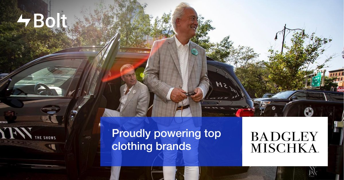 We're proud to power the checkout experience for top clothing retailers like @BadgleyMischka! #BoltCheckout   View other top clothing brands in the Bolt network here: