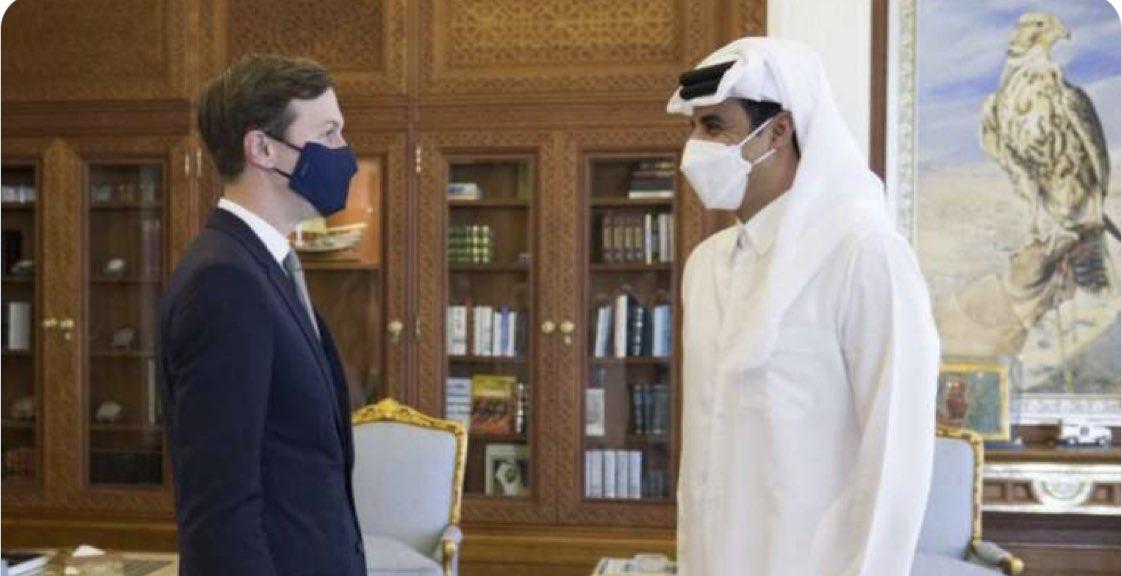 أمير #قطر بحث و #كوشنر تطورات الأوضاع في #الشرق_الأوسط