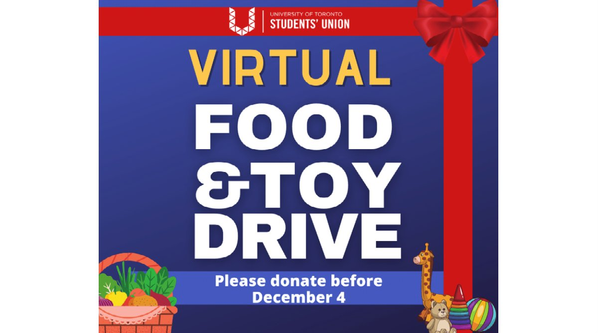 Donate what you can to support student families during the holiday season (before Friday!):  #UofT