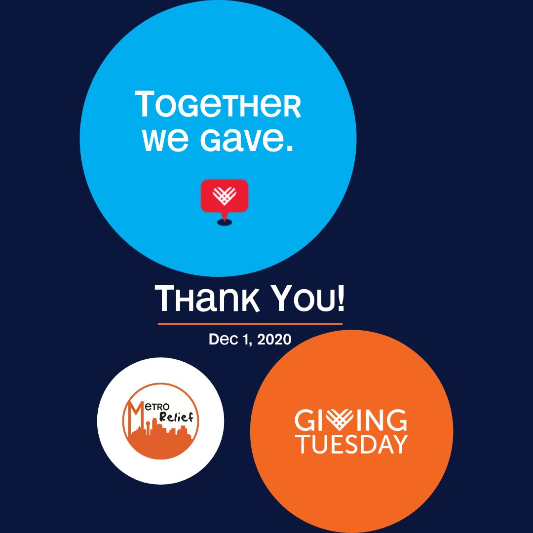 Thank you for helping us raise $5,000 on #GivingTuesday! Your generous partnership is making a difference in the lives of those experiencing homelessness. #MetroRelief #Homelessness #UnleashGenerosity #ThankYou