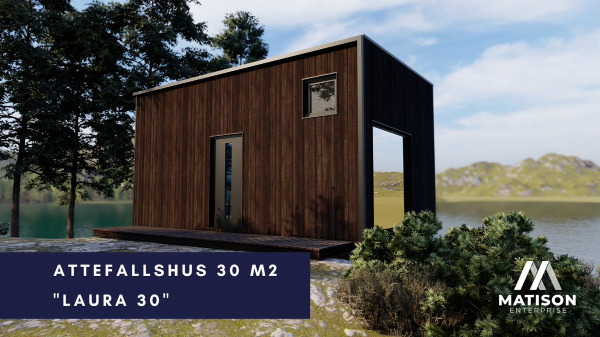 We create well-insulated #homes, suitable for the #Nordic climate all year round. Simply #perfect as a holiday #home, as well as your permanent accommodation.    Web:   Call : +46723314157 Mail: info@matison.se #attefallshus #yardhouse #smallhouse #modern