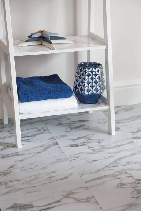 Here's another adhesive solution from our Floor & Wall Tile range! 🌟  Take a look at our White Marble tiles 👉   ⭐️ Easy to install just peel and stick! No need to grout ⭐️ Use on top of flat tiles or hard surface ⭐️ Ideal for a quick makeover  #Home #DIY