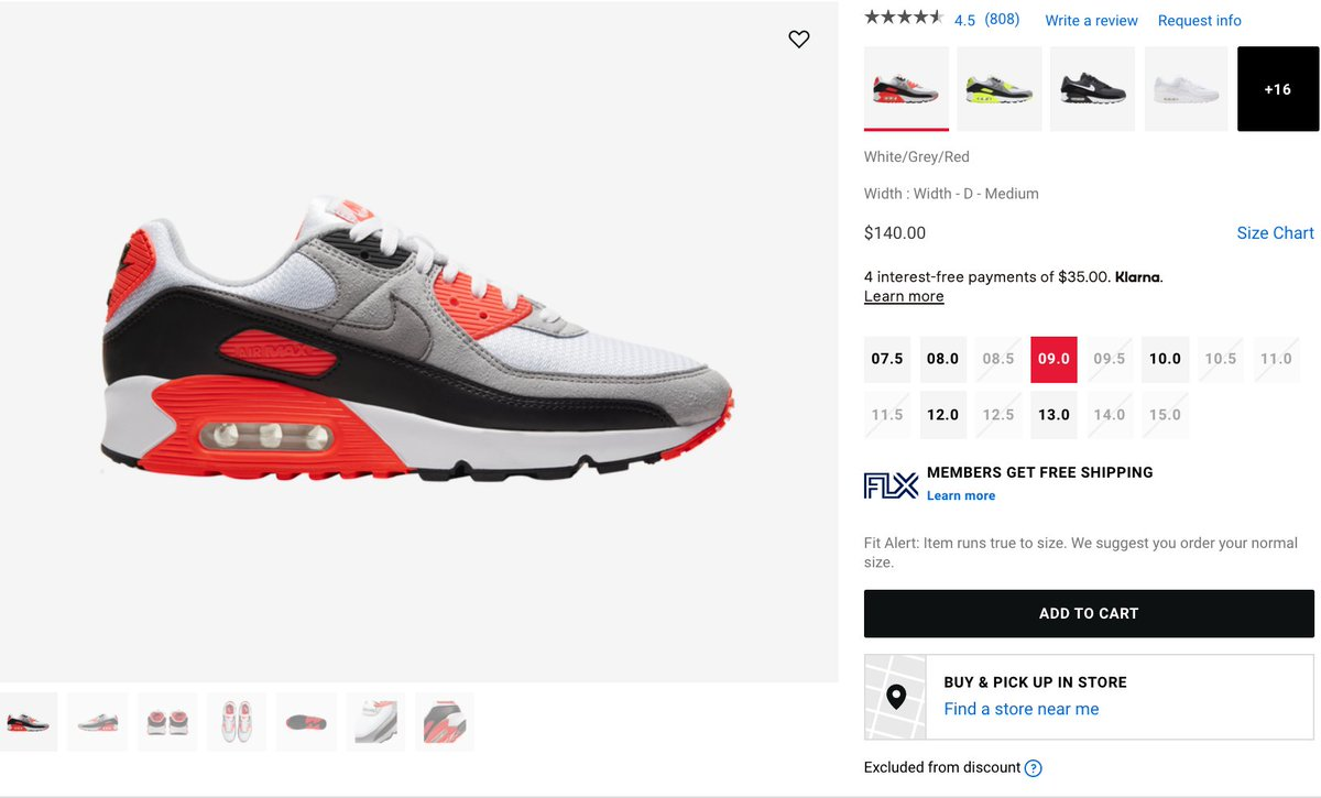 Couple of sizes Nike Air Max III 'Radiant Red' =  2