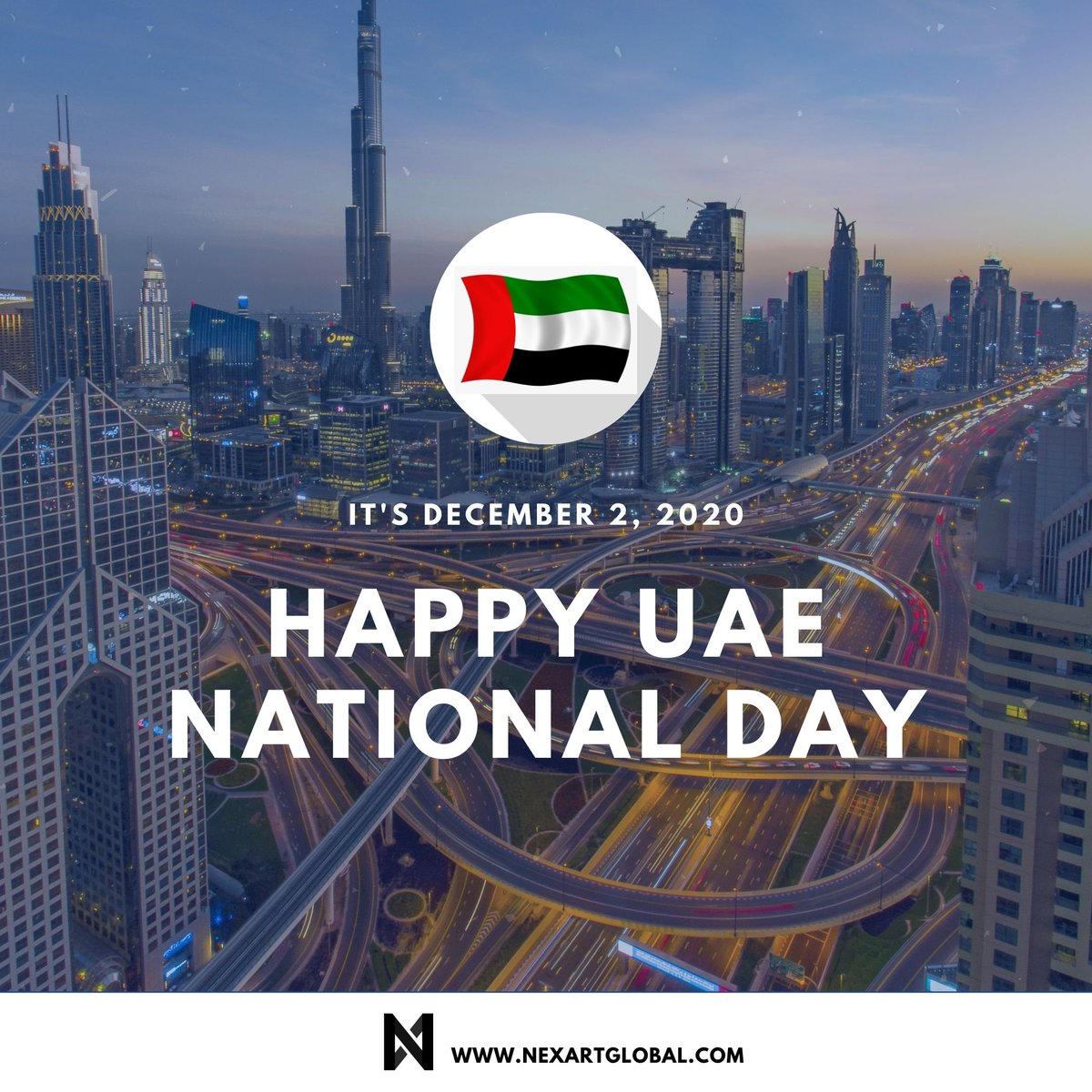 A Special Day in the History of the UAE. We wish a happy and safe National Day.  #UAENationalDay #UAENationalDay49 #celebrations #maan #maanabudhabi #abudhabi #startup #uae #businesslife #marketingdigital #india #nexart .