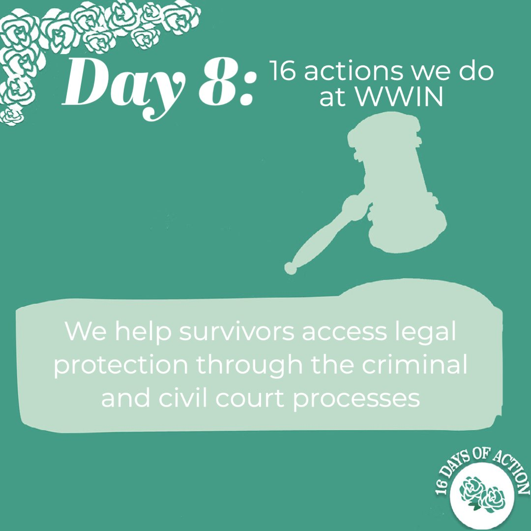 #16Days: Day 8 We help survivors access legal protection through the criminal and civil court processes.  How can you help? Support @centreWJ & @EVAWuk, with @Imkaan & @RapeCrisisEandW they published a report on rape prosecutions this week:  #RapeJusticeNow