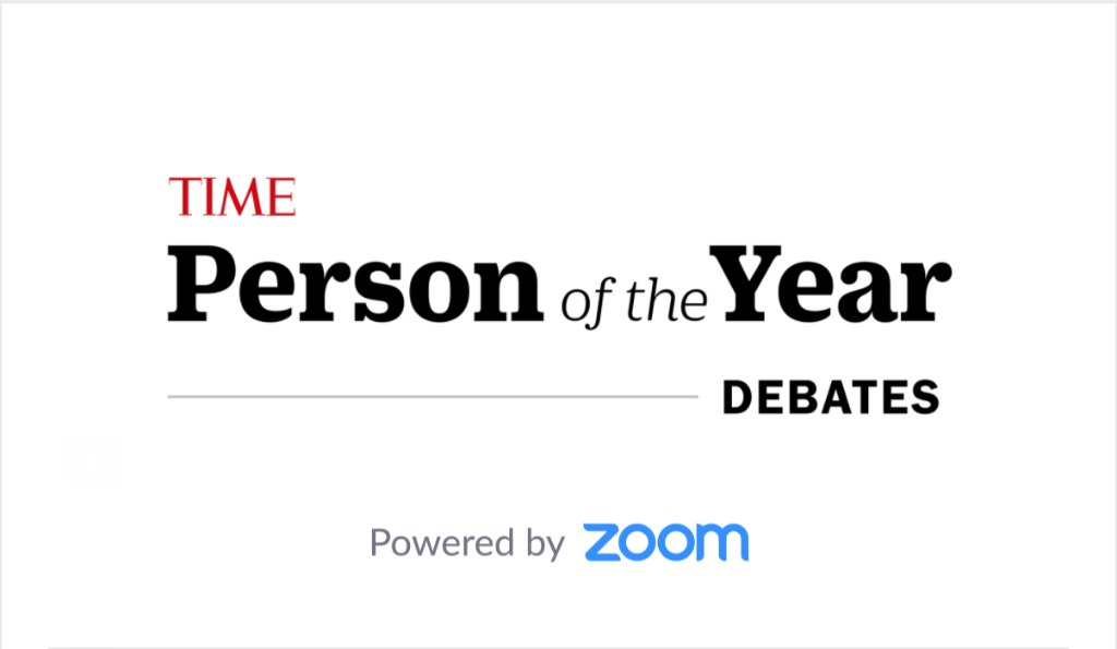Join @chefjoseandres, @JessicaLBYRD and @EmmanuelAcho for a live discussion about the 2020 TIME Person of the Year decision. Register now:  #TIMEPOY   Powered by @zoom_us
