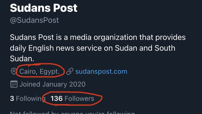 Sudan Post is an #Egyptian propaganda media based in #Cairo, set to mislead the Sudanese people and the Intl'l community. S. Post is loved by #AbdiPlautPatrickAnalysts https://t.co/5qmXaCqEfP https://t.co/bLyQ2x0Pde