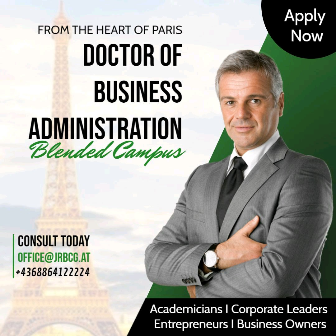 Lucrative Career Options with a Doctor of Business Administration-DBA from Paris.... . . . . . . . . #dba #DoctorofBusinessAdministration #Careerpossibilities #mba #managers #professionals #businessowners #CEO #COO #Csuiteroles #Consultants #topup #Entrepreneurs #Academicians