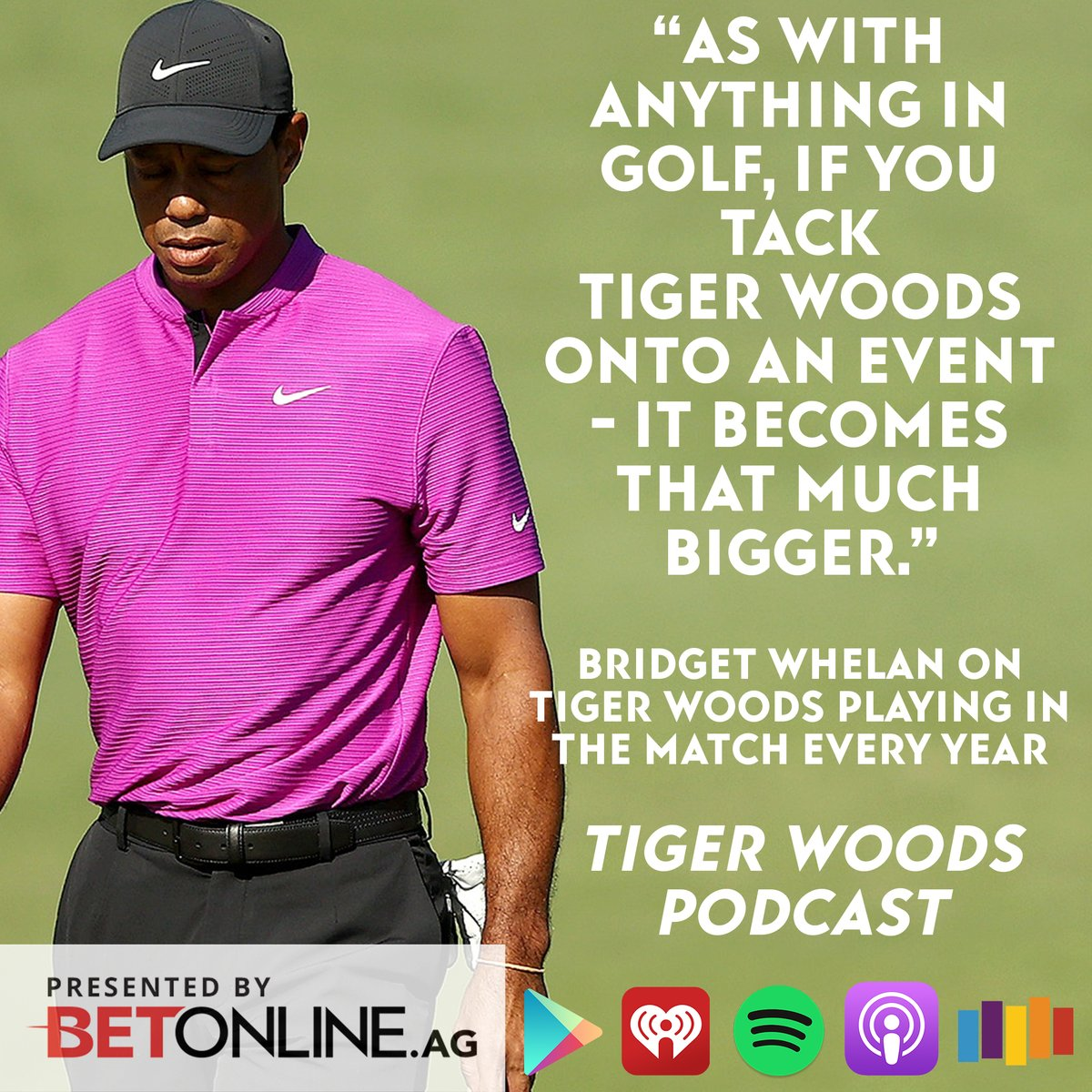 #TheMatch3 was fun, but does every Match need Tiger Woods? @bridgetkwhelan and @MrRogers99 say YES.  Join them on The Tiger Woods podcast for talk on that + an event on Tiger's schedule this month! Presented by  @betonline_ag: