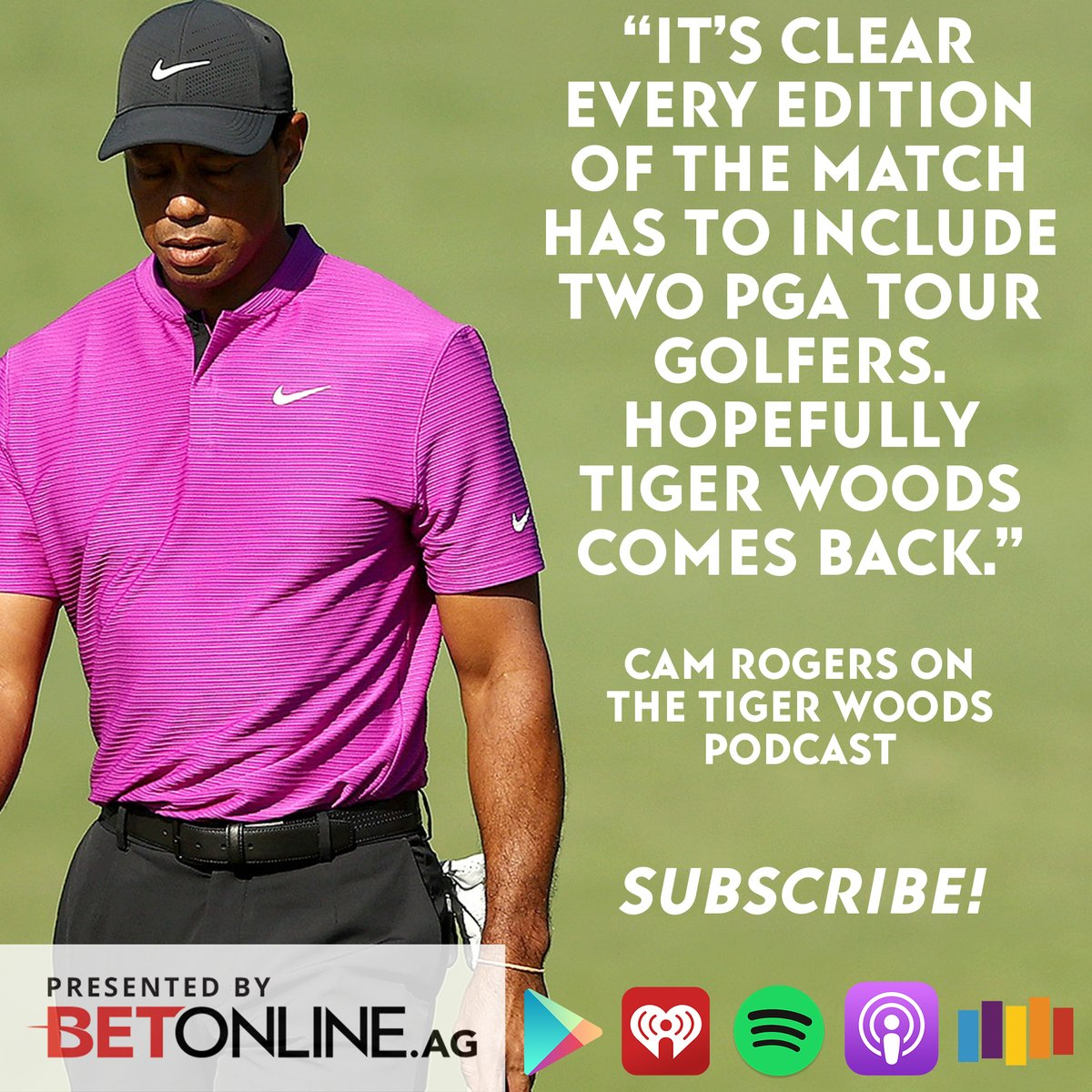 NEW Tiger Woods Podcast:  - #TheMatch recap - we need Tiger back - Tiger's playing later this month! - Mayakoba Classic picks  Tap into the show here:
