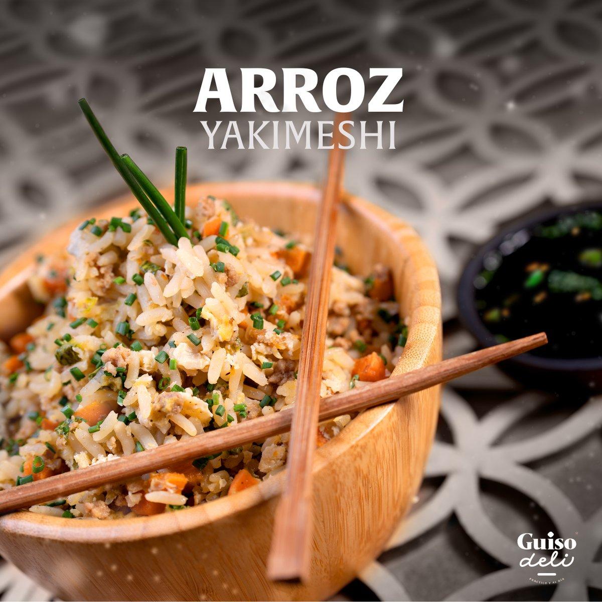 Preparado al estilo japonés, con el toque mexicano único de #GuisoDeli. Estamos seguros que nuestro #ArrozYakimeshi ¡te encantará!  #Foodie #InstaFood #Delicious