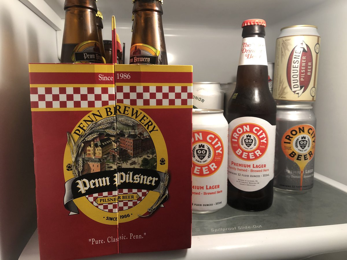 My @steelers beer supply is lonely at home.  @PennBrewery and @IronCityBeer aren't normally consumed on a Wednesday afternoon.  But this is 2020.  #HereWeGo #PITvsBAL