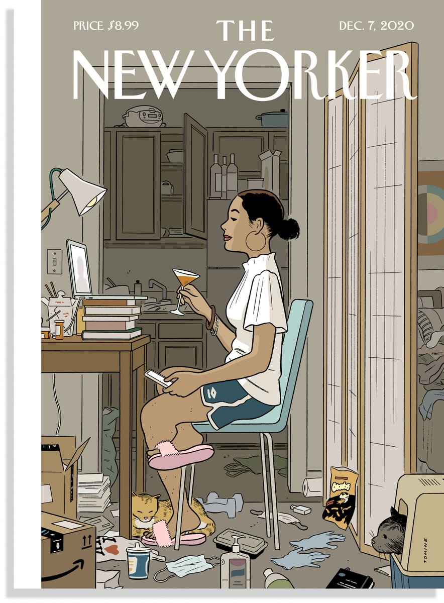 Wow! Adrian Tomines cover for TNY this week has gone viral. He has gone to the other side of the camera and peered into our collective messy rooms. Great art can get at the emotional truth of what were living through.
