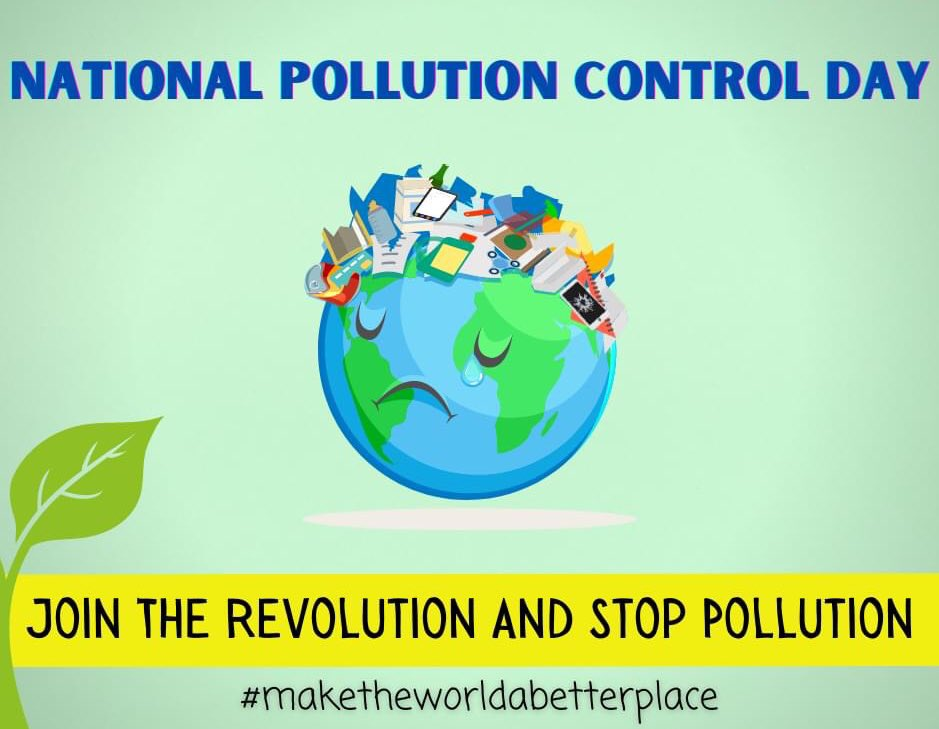 We need to be responsible for future generation's sustainability. If we control pollution today, there will be a tomorrow. #NationalPollutionControlDay #NationalPollutionControlDay2020 #Pollutioncontrol #Pollutioncontrolday #PollutionFree #savenature