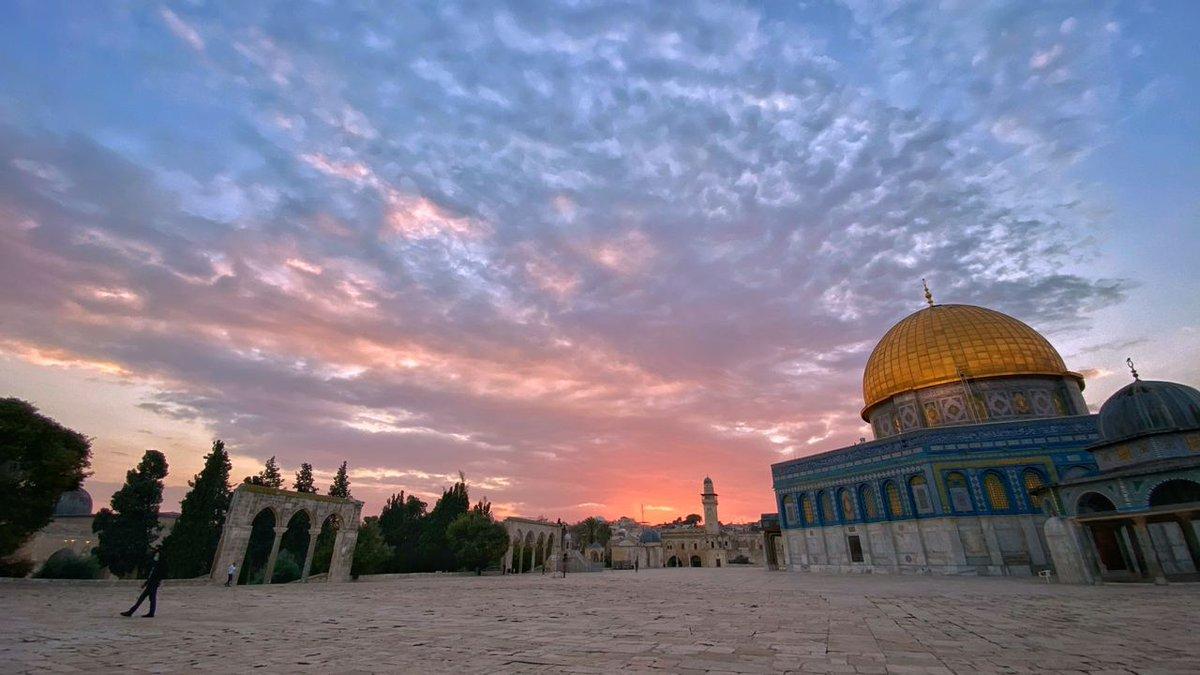 الغروب من مدينة #القدس 🤍🇵🇸