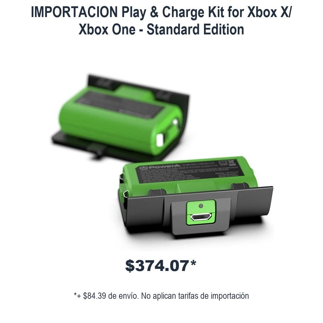 Play & Charge Kit for Xbox X/ Xbox One - Standard Edition  #XboxMexico #xboxmexico #XboxoneMexico #poweryourdreams #xboxmx #XboxoneMex