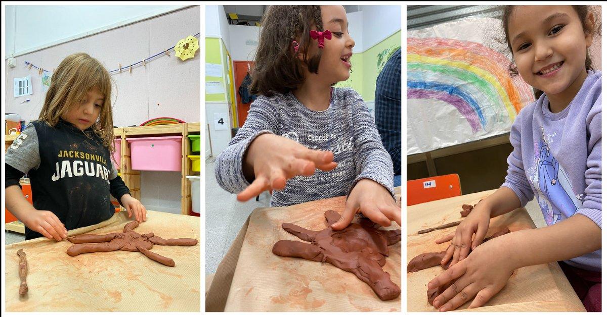 🧒Com m'agrada embrutar-me!. El taller de fang ens ha servit per aprendre a modelar amb les mans sense eines i imaginar-nos un munt de coses i🐍animals diferents!⭐️