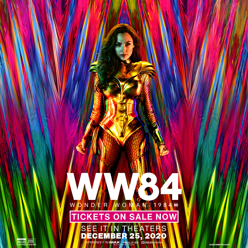 It's time for a hero. #WW84 tickets are on sale now #SecaucusNJ! #SignInAndSave through the #Free #EXTRAS Program:  #christmas #wonderwoman #wonderwoman1984 #movietheaters #newjersey