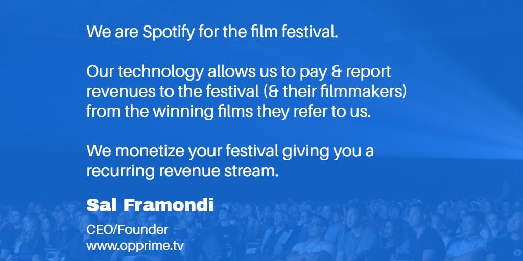 #OPPRIMEtv is #Revolutionizing online #filmfestivals #streaming your winning #Films we can monetize & promote U, UR filmmakers & #Movies to our 65.6k followers. Free! https://t.co/E12SiRKKMm #LAFilmFestival #BerlinFilmFestival #VeniceFilmFestival #RaindanceFilmFestival #NYFF https://t.co/dREYDLUdMU
