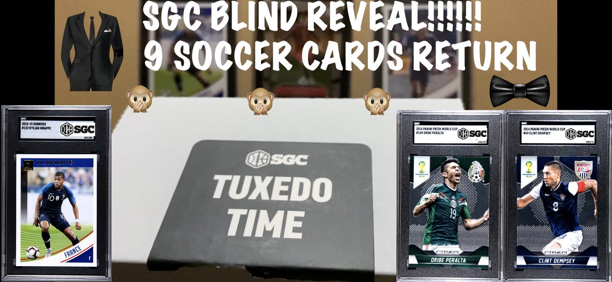 Check out my new SGC soccer card blind reveal #soccer #sportscards #panini #donruss #soccercards #sgc #Mbappe #Ronaldo #France #prizm #whodoyoucollect #Mexico #USA https://t.co/RJ326XkXwa https://t.co/dspxr07giE