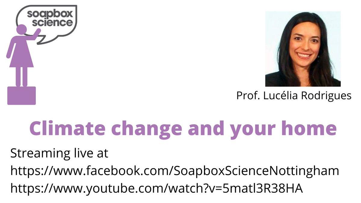 @luceliataranto talking about #ClimateChange @SoapboxScience #Nottingham, streaming live at  and  . #WomenInSTEM #WomenInScience