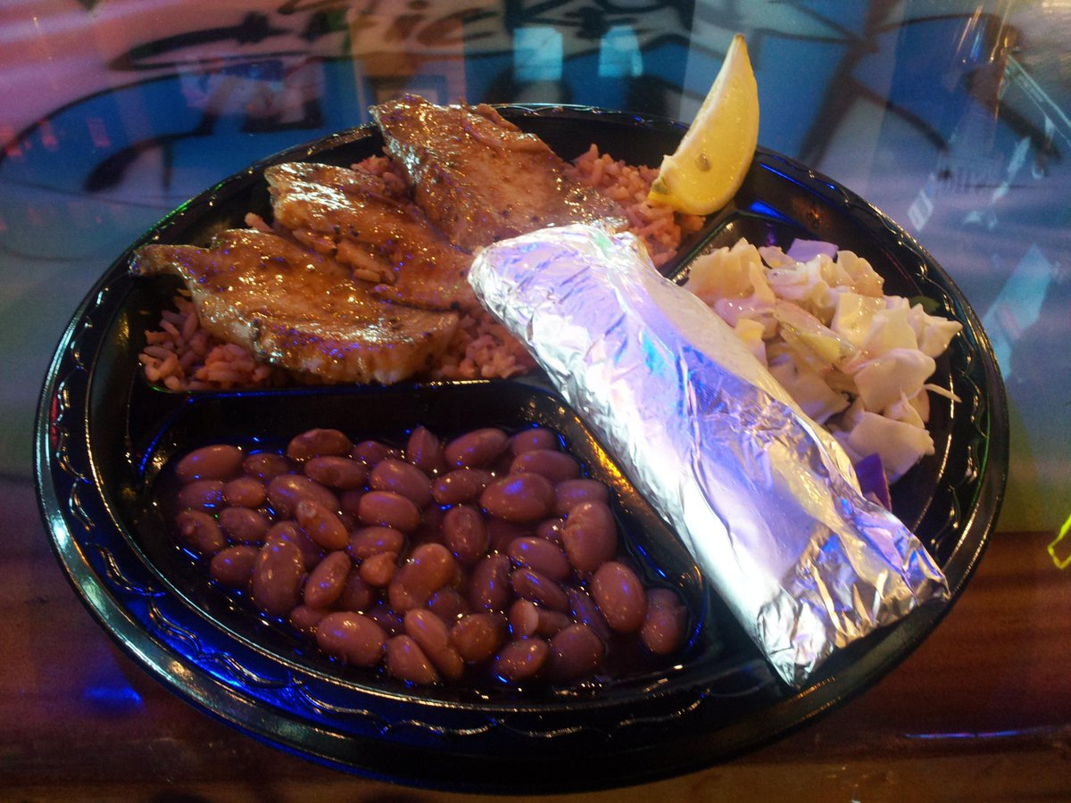 It's Whitefish Wednesday! Get a Whitefish Platter, including Pinto Beans, Rice, Cabbage Salad, and Corn or Flour Tortillas for $8.99 today! #WednesdayWisdom #Yum