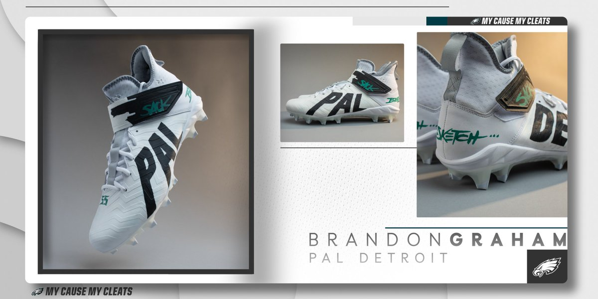 This week, @brandongraham55 is bringing awareness to @DetroitPAL, an organization he credits for his growth as both a young man and an athlete.  #MyCauseMyCleats