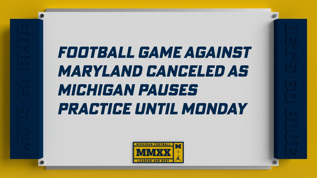 Our game vs. Maryland has been canceled.   DETAILS » https://t.co/1AlO6uoaX5 https://t.co/eJrutKUQYG