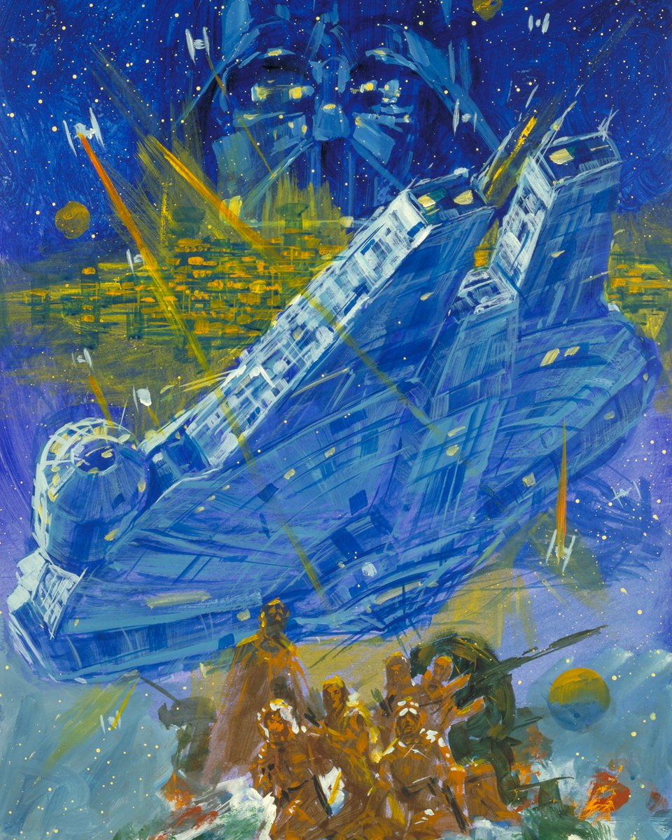 The Millennium Falcon brought to life with brilliant paint strokes by artist Noriyoshi Ohrai. #ESB40