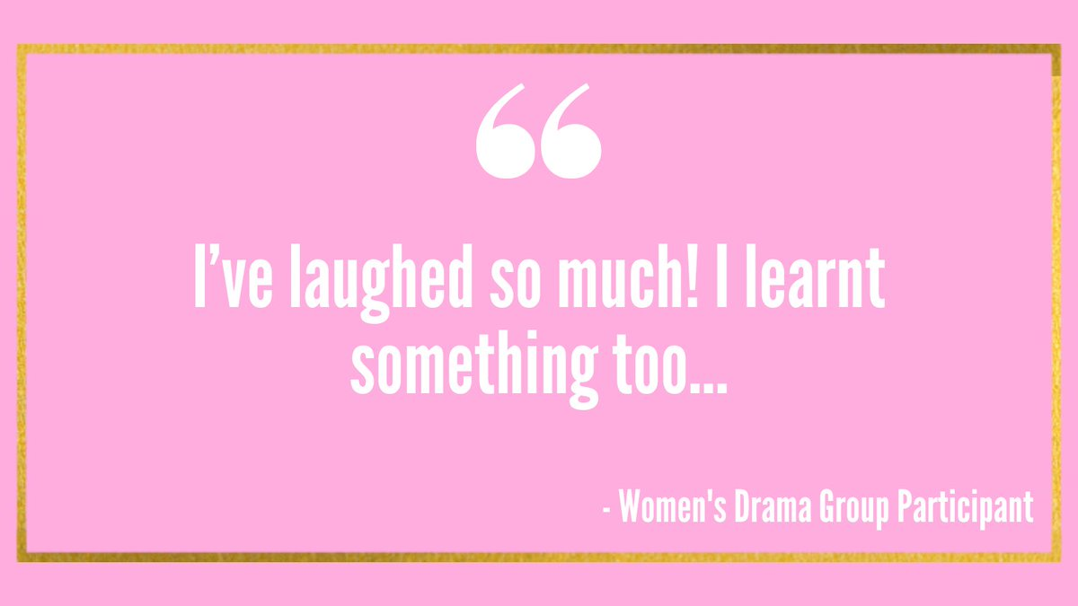 We're back in the room  AND on zoom, double female unity at Women's Drama Group tomorrow 12:30pm-2:30pm. This supportive space is the perfect for getting #creative and building your confidence in a women only environment. Register your interest here:
