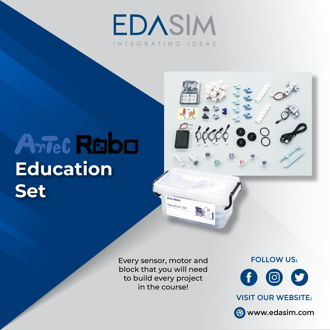 This kit includes every #block, #sensor and #actuator that you will need to build the complete set of #projects from the texbooks. #stemeducation #primaryschool #course #robotics #programming #motors #LED #artecrobo #studuino #diy #maker #fun #creative