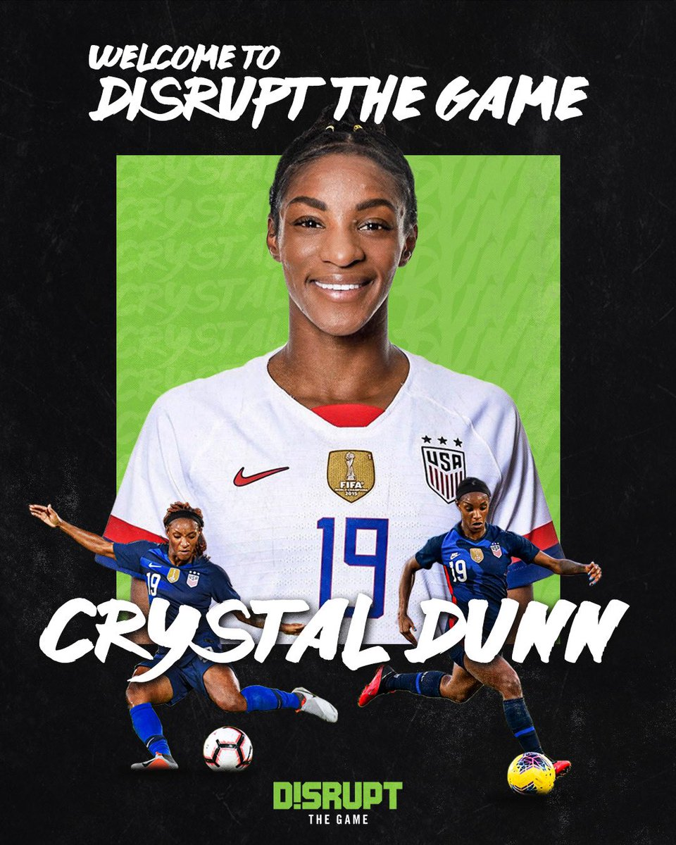 Excited to welcome @crysdunn_19 to Disrupt The Game! ✨